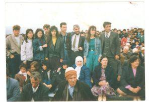 nga tubimi në fushë të pajtimit nga e majta, Valdete Bajrami,Halil Halili,Minire Ademi,Raif Musa,Hoxhë Idriz Kosova,Syzana Jupa